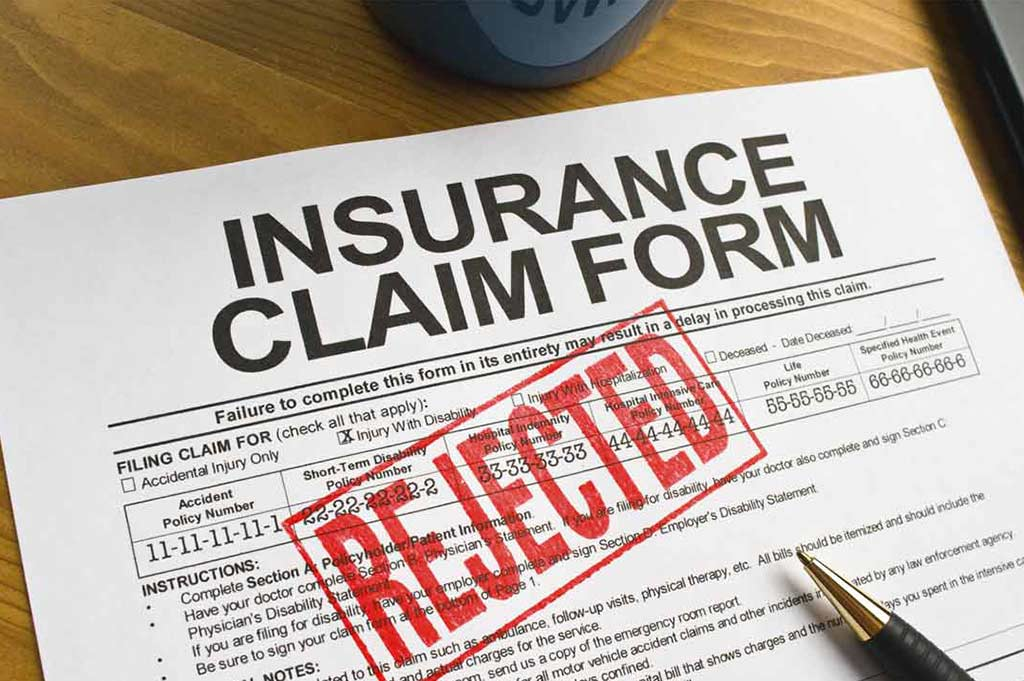 Rejected or Denied Insurance Claims